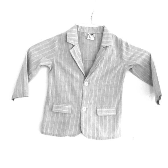 Piccino Picinna Other - 100% Cotton Boys Pinstriped Sport Coat/ Blazer